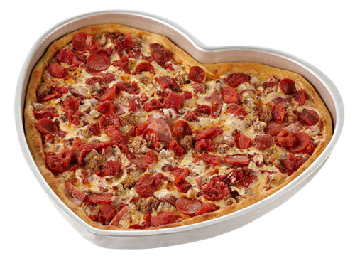 heart shaped deep dish pizza pan