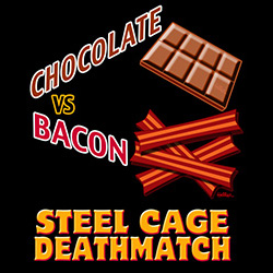 Chocolate vs Bacon - Steel Cage Deathmatch! @ VCB Shop!